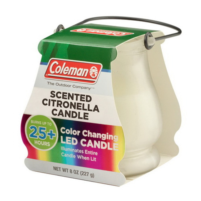 Coleman Color Changing Led Citronella Outdoor Scented 25+ Hours Candle, 8 Oz