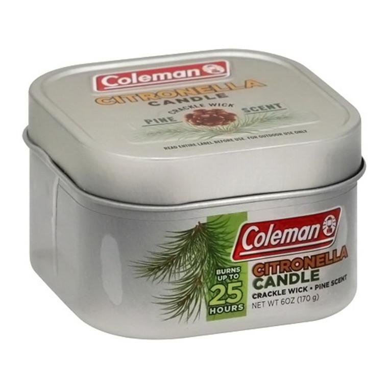 Coleman Repellents Pine Citronella Candle Tin, 6 Oz