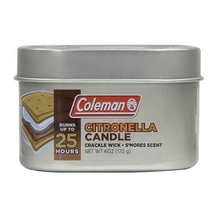 Coleman Repellents Smores Citronella Candle with Wooden Crackle Wick, 6 Oz