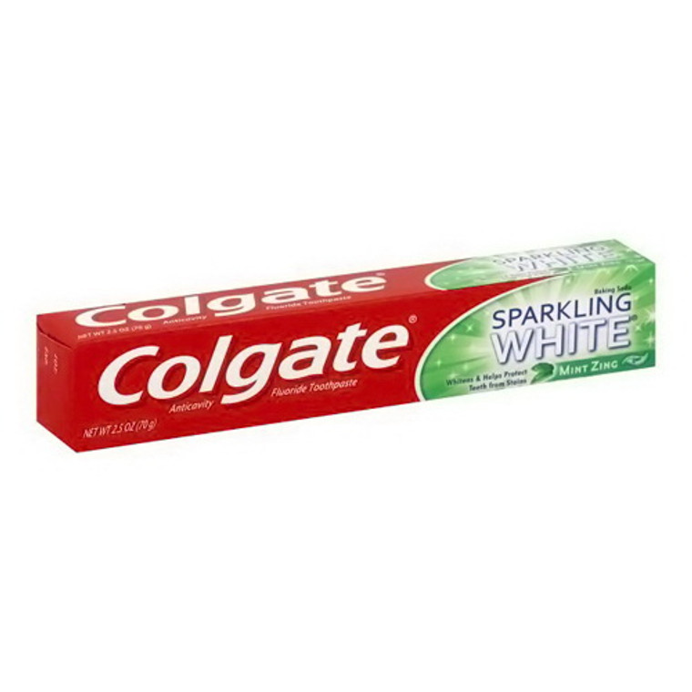 Colgate Sparkling White Gel Toothpaste Mint Zing, 2.5 Oz