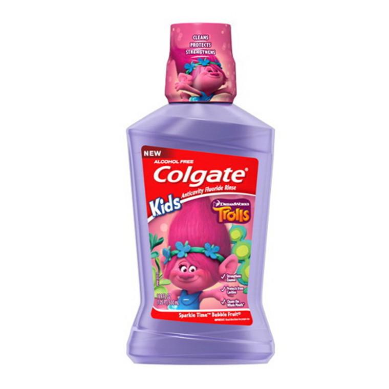 Colgate Trolls Sparkle Time Anticavity Fluoride Rinse Mouthwash, 16.9 Oz
