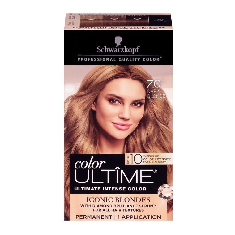 Schwarzkopf Color Ultime Permanent Hair Color Cream, 7.0 Dark Blonde, 1 Kit