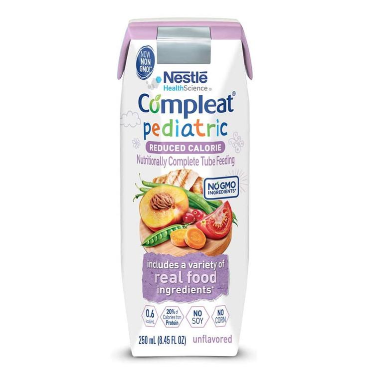 Compleat Pediatric Tube Ready to Use Feeding Formula, Unflavored, 250ml/24 Ea