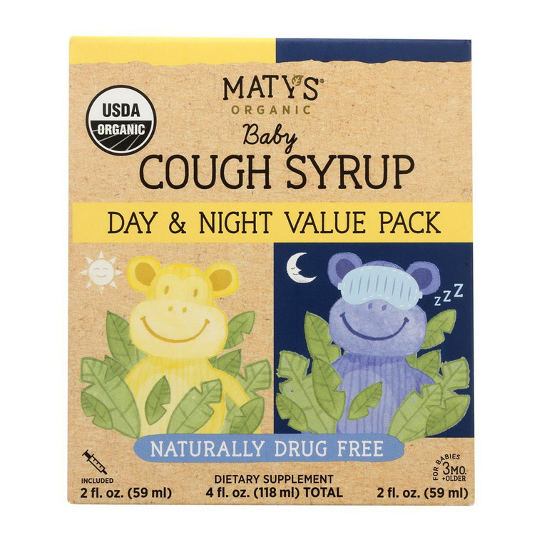 Maty's Organic Day and Night  Baby Cough Syrup, 4 Oz