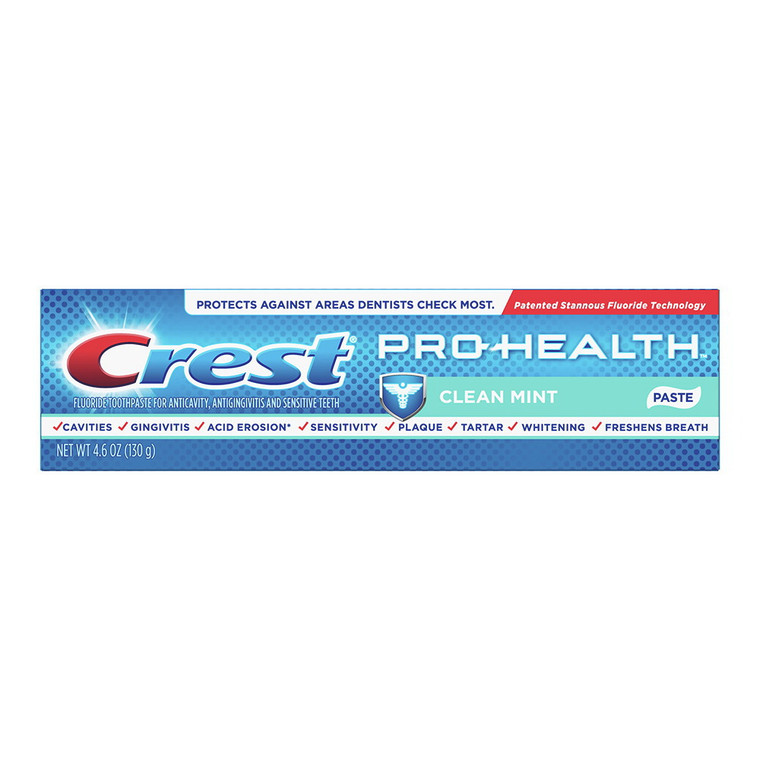 Crest Pro-Health Smooth Formula Toothpaste, Clean Mint, 4.6 Oz