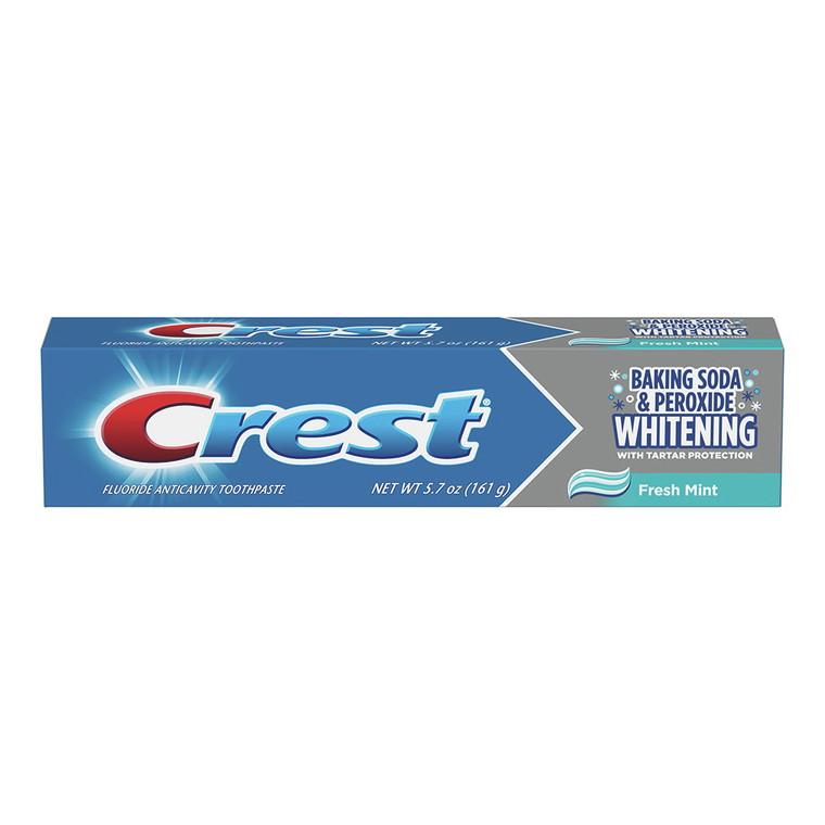 Crest Whitening Baking Soda & Peroxide Toothpaste with Fresh Mint, 5.7 Oz