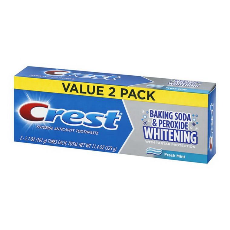 Crest Cavity & Tartar Protection Toothpaste, Fresh Mint, 5.7 Oz/2 Ea