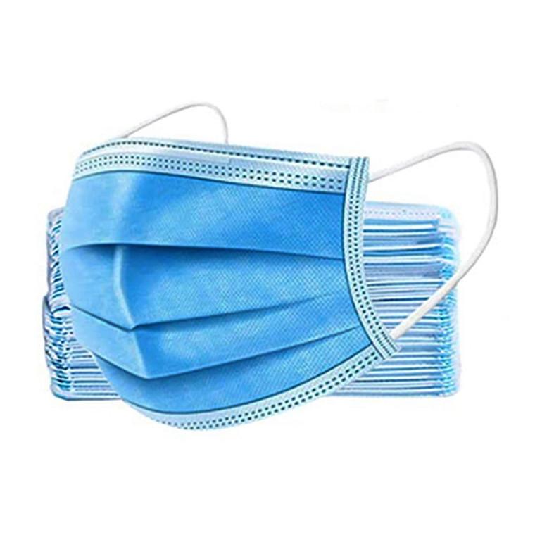 Medicos 3 Ply Disposable Face Mask Civil Use, 50 Ea