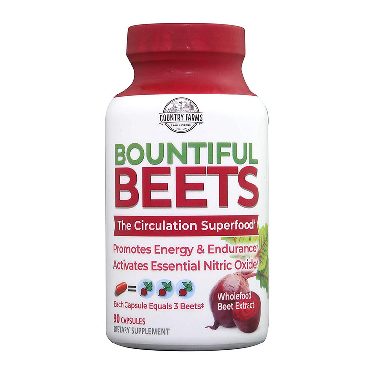 Country Farms Bountiful Beets Circulation Superfood Capsules, 90 Ea