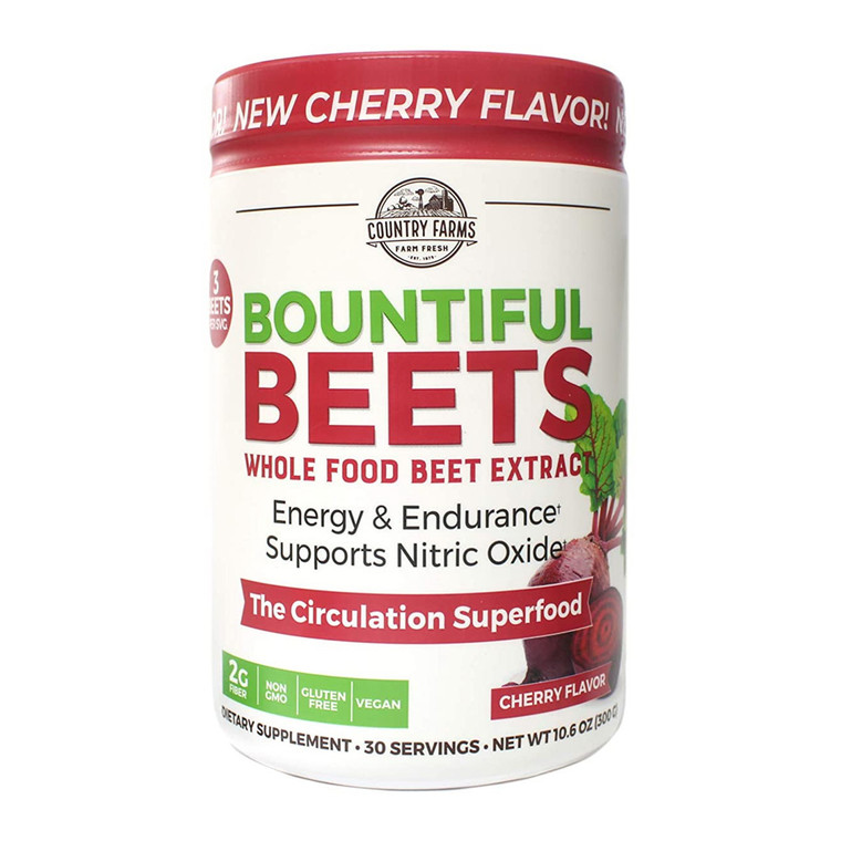 Country Farms Bountiful Beets Circulation Superfood Powder, 10.6 Oz
