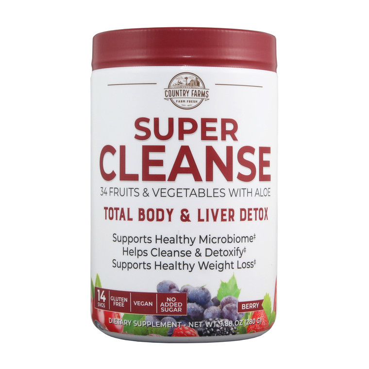 Country Farms Super Cleanse, Organic Super Juice Cleanse, Delicious Drink, 9.88 Oz