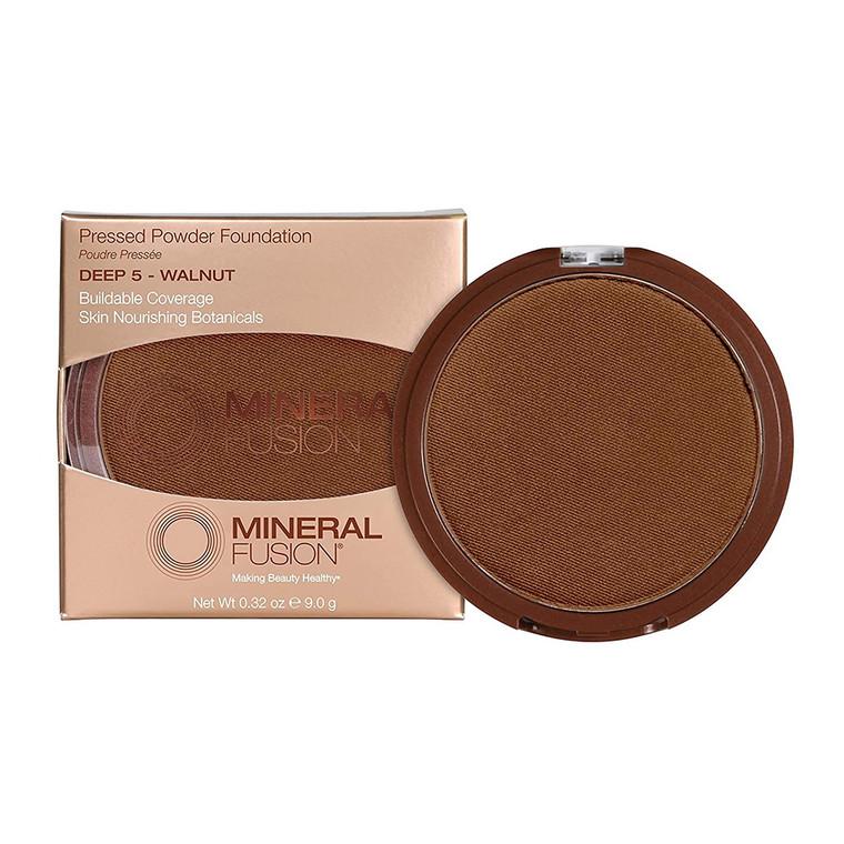 Mineral Fusion Pressed Powder Foundation Deep 5 Walnut, 0.32 Oz
