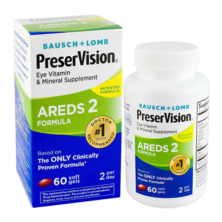 PreserVision Areds 2 Eye Vitamin and Mineral Supplement Softgels 60 ea