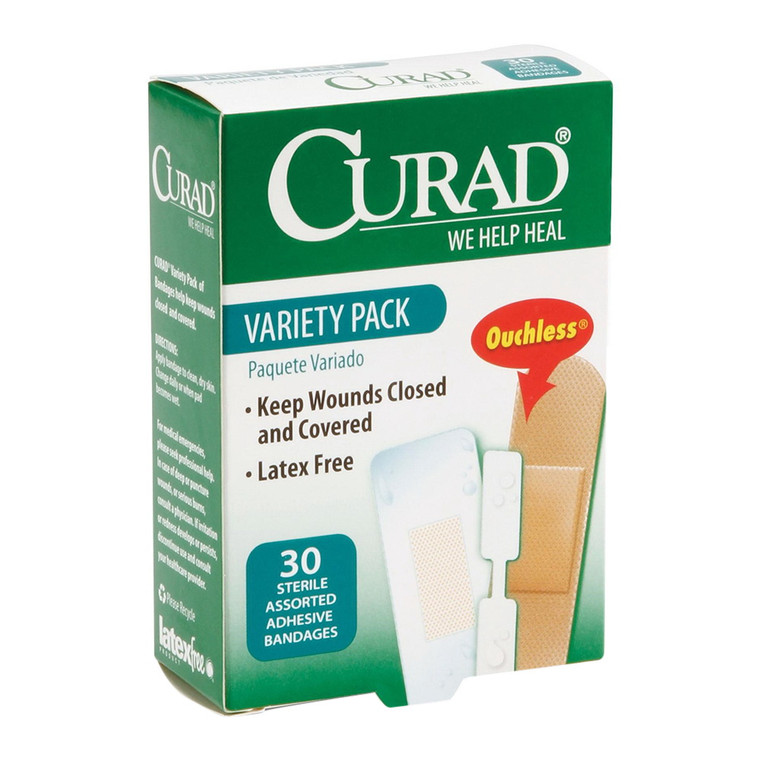Curad Variety Pack Sterile Assorted Adhesive Bandages, 30 Ea