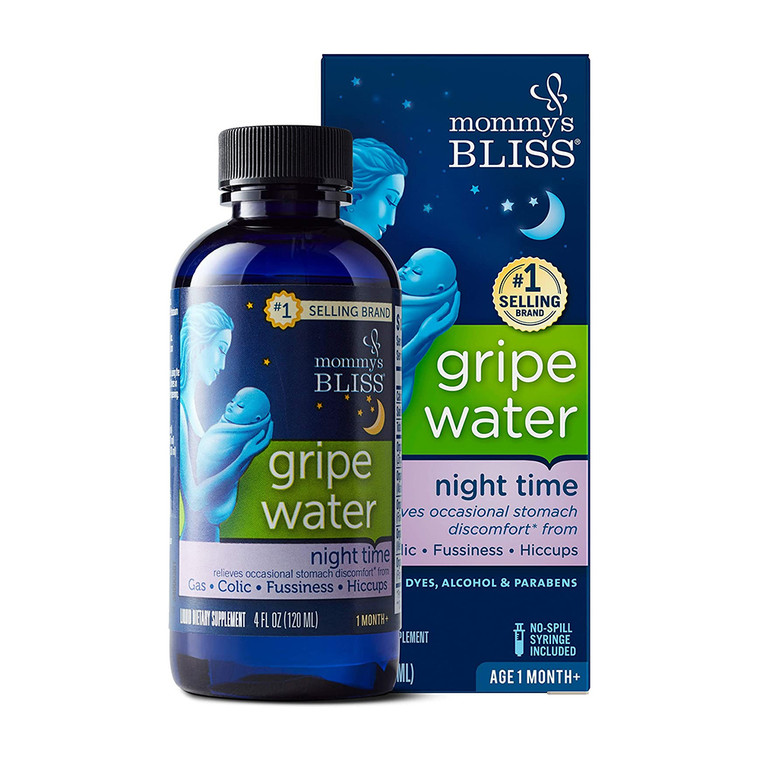 Mommys Bliss Night Time Gripe Water, 4 Oz