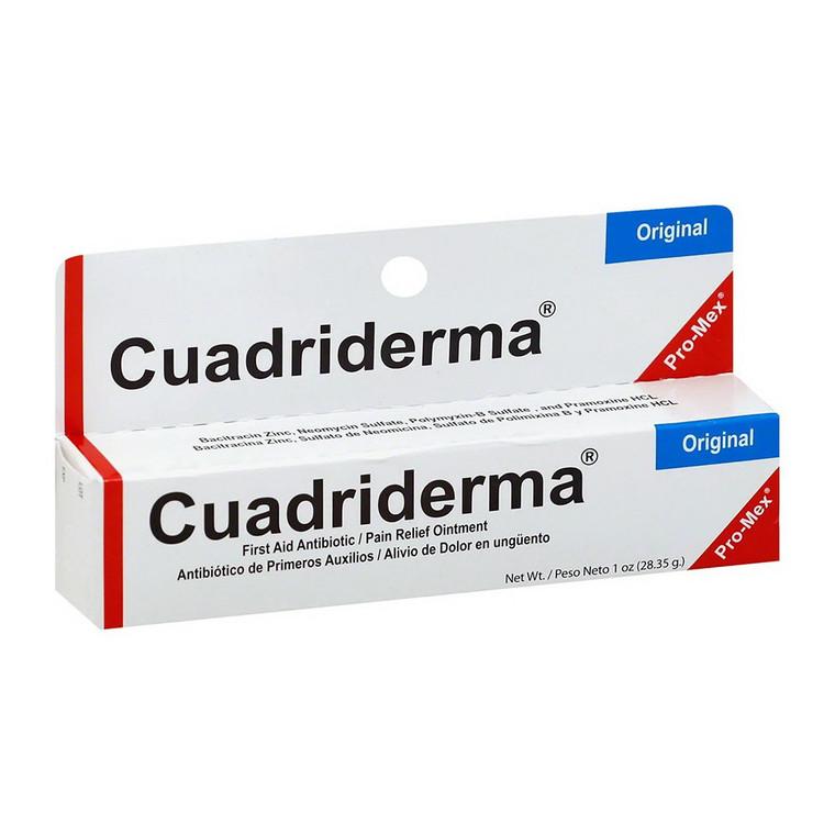 Cuadriderma First Aid Antibiotic/Pain Relief Cream, 1 Oz