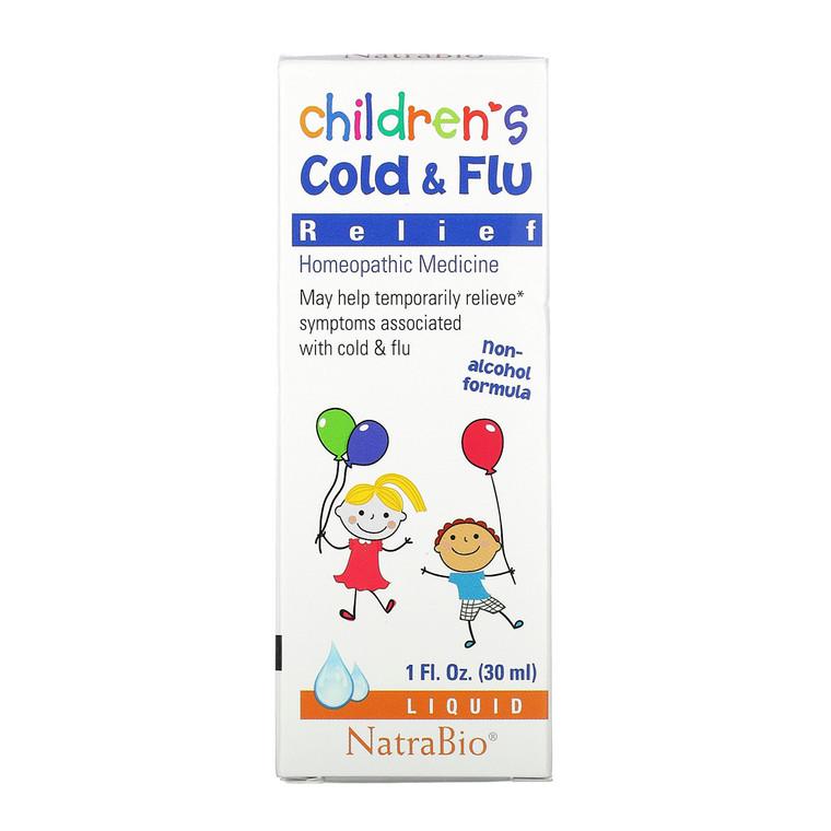 Natra Bio Childrens Cold and Flu Relief, 1 Oz
