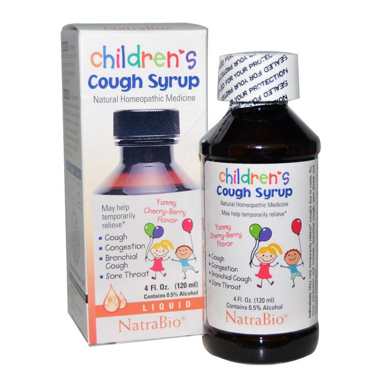 Natra Bio Childrens Cough Syrup Cherry Berry, 4 Oz