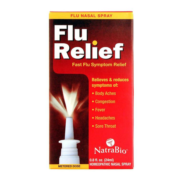 Natra Bio Flu Relief Nasal Spray, 0.8 Oz
