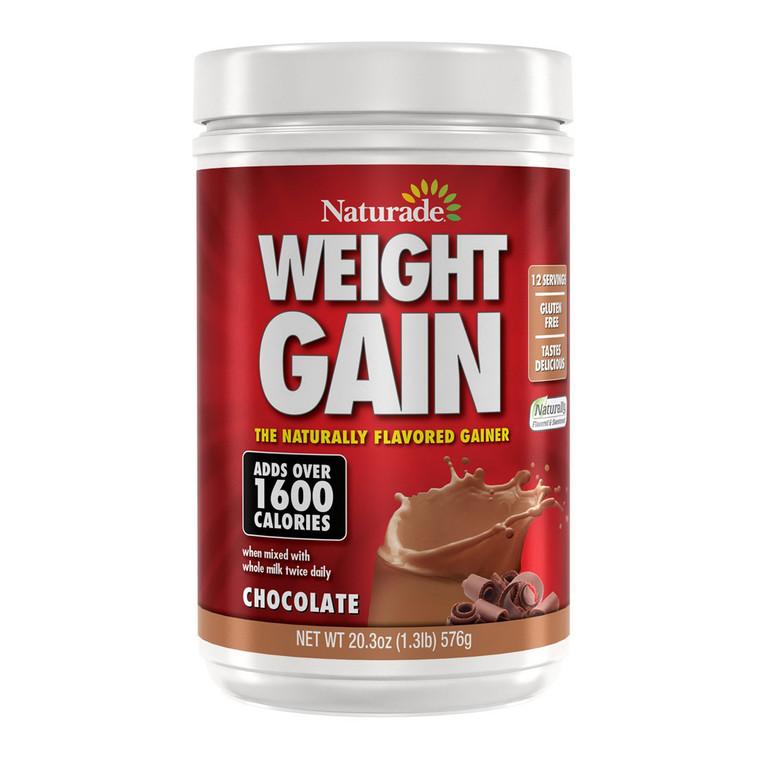 Naturade Weight Gain Naturally Gainer, Chocolate Flavor, 20.3 Oz