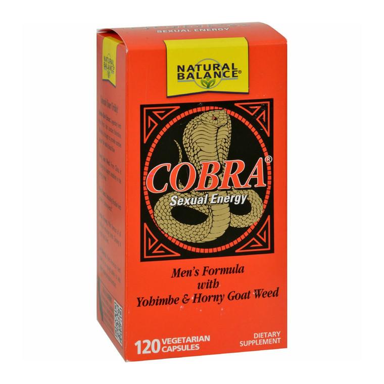 Natural Balance Cobra Sexual Energy Vegetarian Capsules, 120 Ea