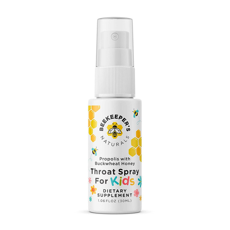 Beekeepers Naturals Propolis Throat Spray for Kids, 1.6 Oz