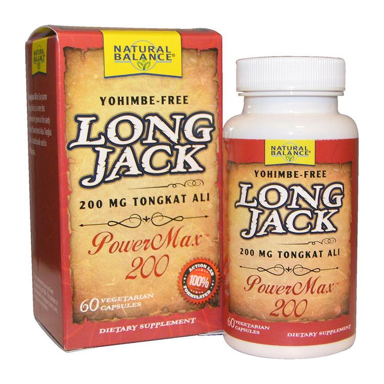 Natural Balance Long Jack PowerMax 200 Veggie Capasules, 60 Ea