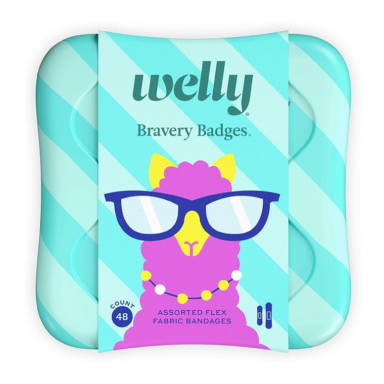 Welly Bravery Badges Assorted Kids Peculiar Pets Fabric Bandages, 48 Ea