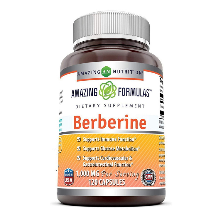 Amazing Nutrition Amazing Formulas Berberine 500 mg Capsules, 250 Ea
