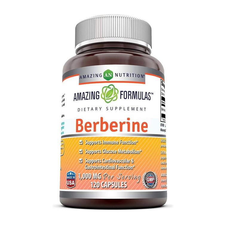 Amazing Nutrition Amazing Formulas Berberine 1000 mg Capsules, 120 Ea