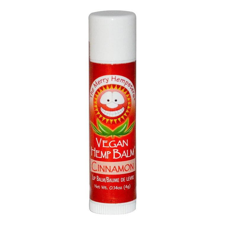 Merry Hempsters Vegan Hemp Lip Balm, Cinnamon, 0.14 Oz