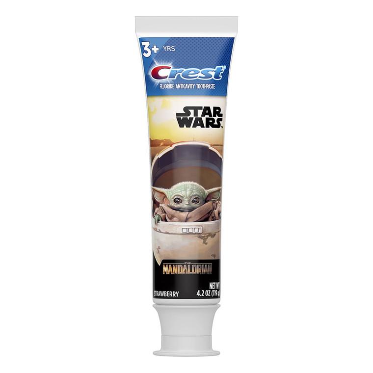 Crest Kids Toothpaste Featuring Star Wars The Mandalorian, Strawberry Flavor, 4.2 Oz
