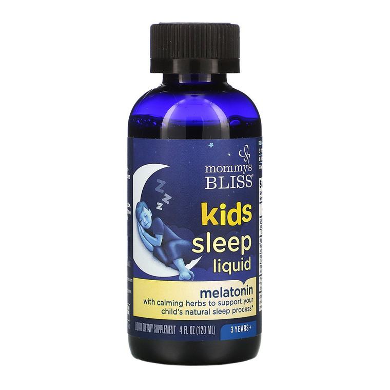 Mommy's Bliss Kids Sleep Liquid with Melatonin, Kids 3 Yrs +, Natural Grape, 4 Oz