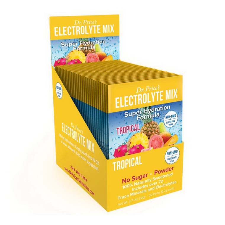 Dr. Prices Tropical Super Hydration Formula Electrolyte Mix, 30 Ea