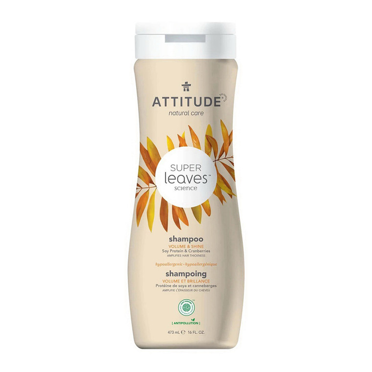 Attitude Soy Protein and Cranberries Natural Shampoo Volume and Shine, 16 Oz