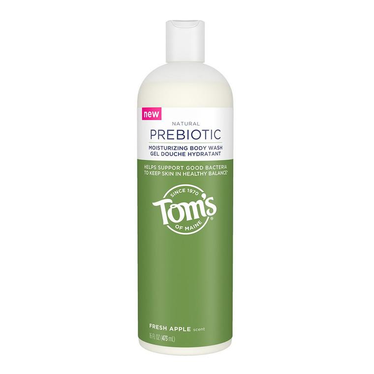 Toms of Maine Fresh Apple Scent Natural Prebiotic Body Wash, 16 Oz