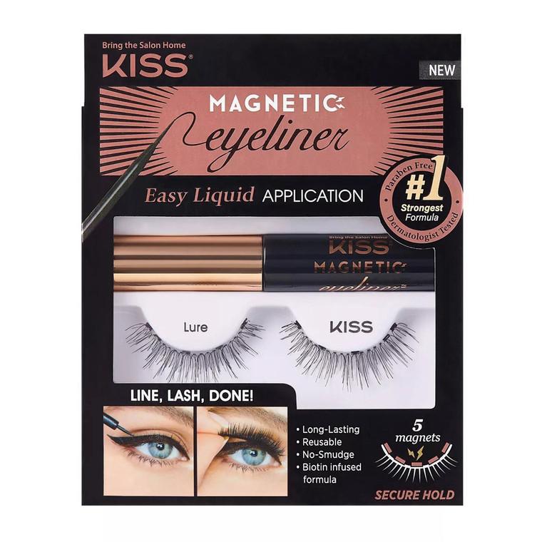 Kiss Magnetic Eyeliner False Eyelash Starter Kit, 1 Pair