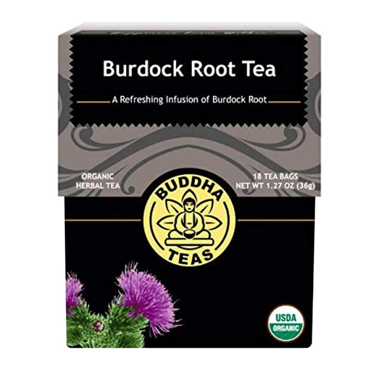 Buddha Teas Organic Burdock Root Tea Bags, 18 Ea
