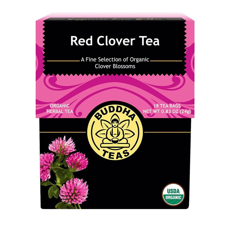 Buddha Teas Organic Red Clover Tea Bags, 18 Ea
