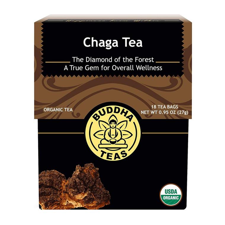 Buddha Teas Organic Chaga Mushroom Tea Bags, 18 Ea