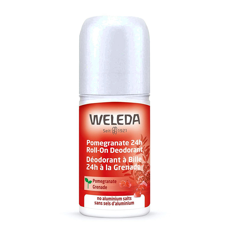 Weleda Pomegranate 24 Hours Roll On Deodorant, 1.7 Oz