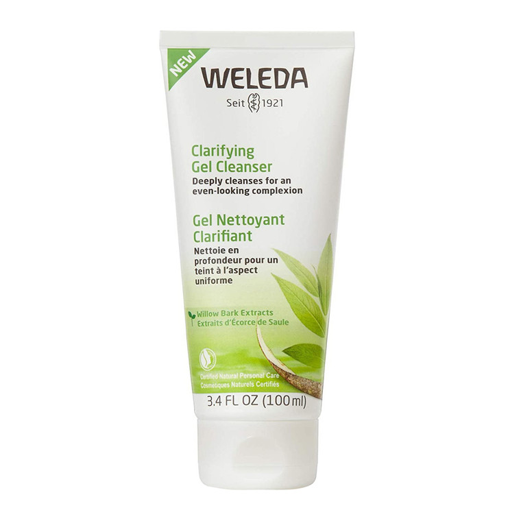 Weleda Deeply Cleanses Clarifying Gel Facial Cleanser, 3.4 Oz