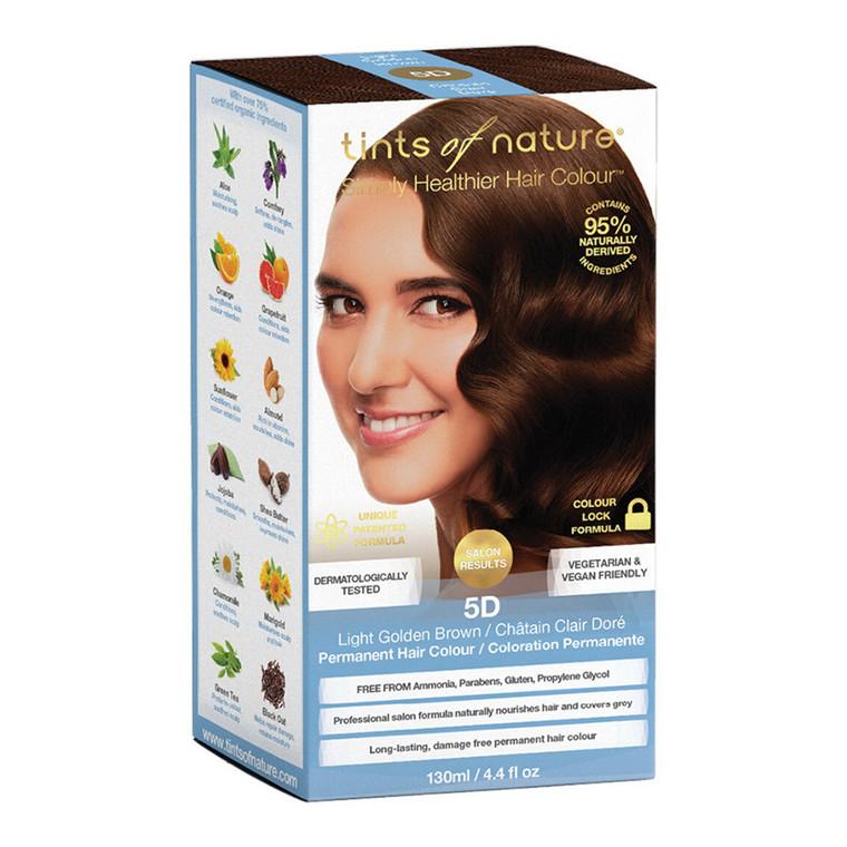 Tints of Nature 5D Light Golden Brown Permanent Hair Colour, 4.4 Oz