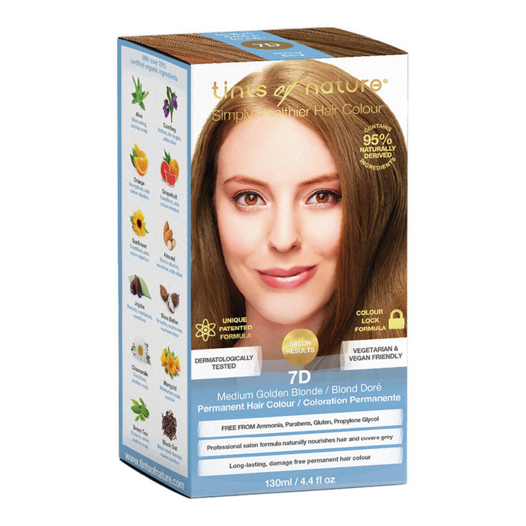 Tints of Nature 7D Golden Brown Permanent Hair Colour, 4.4 Oz