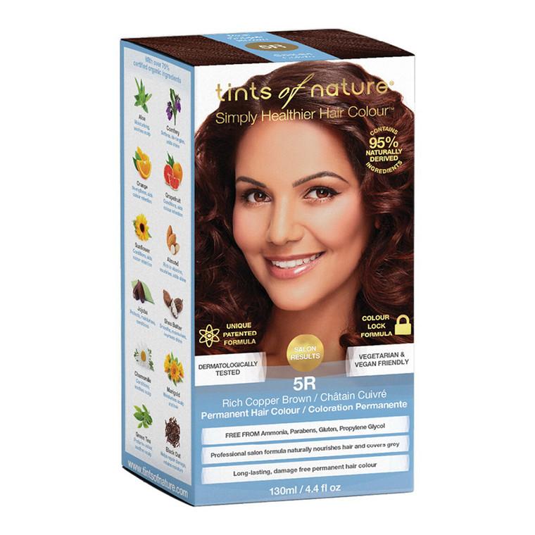 Tints of Nature 5R Rich Copper Brown Permanent Hair Colour, 4.4 Oz