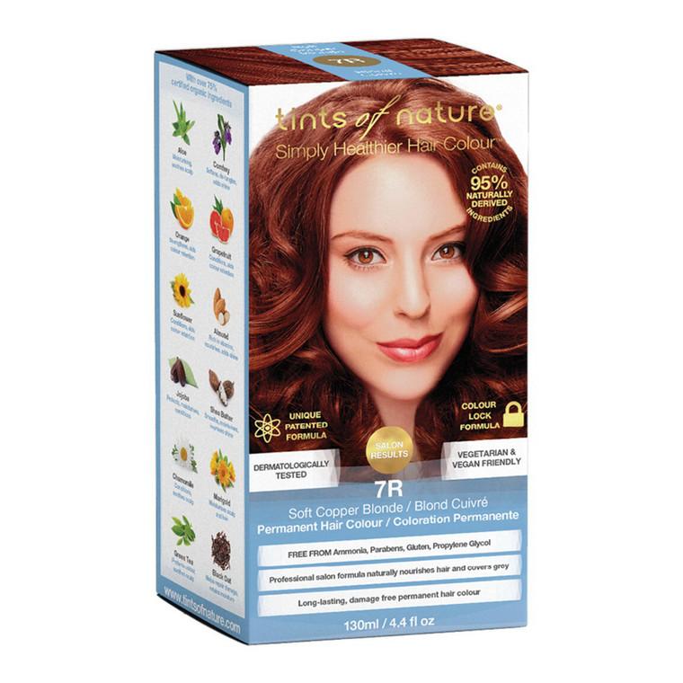 Tints of Nature 7R Soft Copper Blonde Permanent Hair Colour, 4.4 Oz