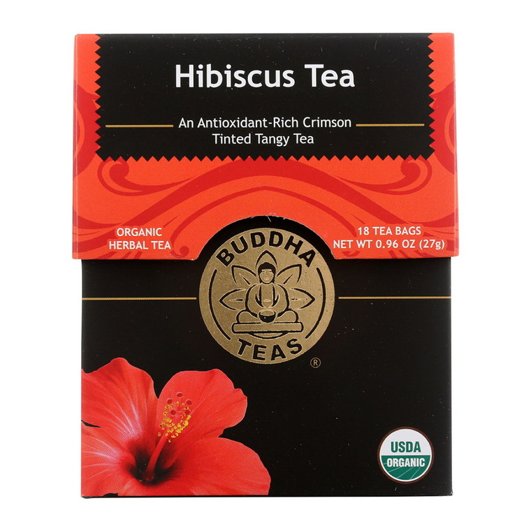 Buddha Teas Organic Hibiscus Flower Tea Bags, 18 Ea