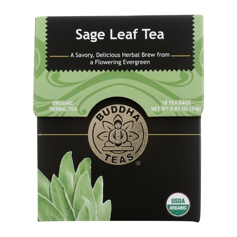 Buddha Teas Organic Sage Leaf Tea Bags, 18 Ea