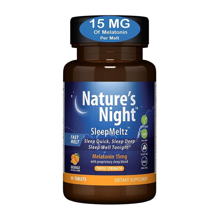 Natures Night Sleep Meltz 5mg Melatonin with Sleep Blend Extra Strength Tablets, 60 Ea