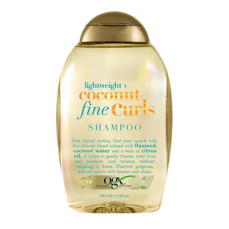 OGX Lightweight Coconut Fine Curls Shampoo, 13 Oz